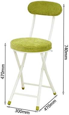 Chaise d'ordinateur Chaise de Salle à Manger Pliante Accueil Dossier Cuisine Restaurant Portable Simple PENGJIE