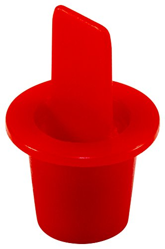 "Caplugs ZCPT2Q1 Plastic Center Pull Tab Tapered Plug. CPT-2, PE-LD, Cap OD 0.50"" Plug ID 0.367"", Red (Pack of 100)"