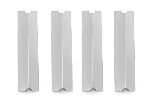 DcYourHome Stainless Heat Plate Replacement (4-pack) Fits Charbroil 463241113, Charbroil 463449914, Charbroil C-45D, Master Cook SRGG61401,15.25 x 3.75 inches