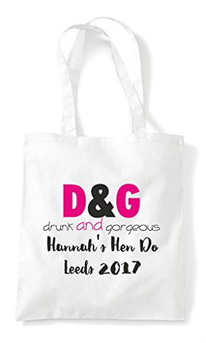 Do Gorgeous Bag Customised Party Drunk Parody Shopper And White Tote Hen Personalised Bq0Fax