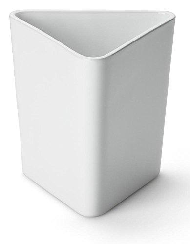 Continenta Tischabfalleimer aus Keramik, Tischabfallbehälter, Tischmülleimer, Größe: 12,5 x 12,5 x 15 cm