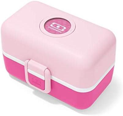 Monbento MB Tresor Litchi - Fiambrera para niños con separador, con compartimentos, personalizable: Amazon.es: Hogar