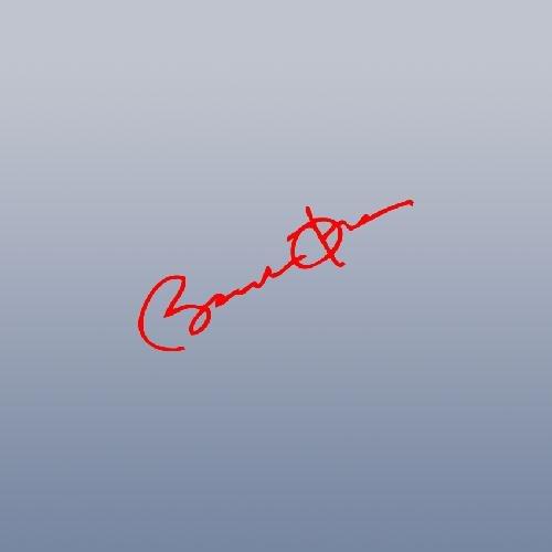CAR WALL HOME DECOR DECOR BARACK OBAMA SIGNATURE WALL ART ADHESIVE VINYL LAPTOP NOTEBOOK RED CAR BIKE DECAL HELMET ART