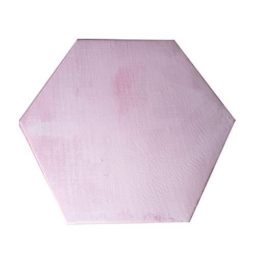 (Pink Hexagon Rug for Kids Teepee Tent Mat Princess Tent Rugs for Girls Hexagonal Play Tent Rug Play Mat Kids Pink Hexagon Pad Mat Coral Velvet 140 x 140 cm (Pink Hexagonal))