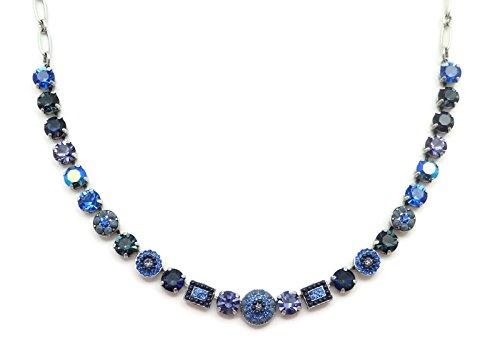 Mariana Silver Plated Swarovski Crystal Necklace Dark Blue & Purple Mosaic 1026 Odyssey Electra