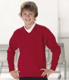 Jerzees Big Boys' Russell Schoolgear V Neck Sweatshirt 11-12 Years (Jerzees V-neck Sweatshirt)