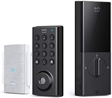 eufy Security Smart Lock with Wi-Fi Bridge, Keyless Entry Door Lock with Wi-Fi, App Control, Bluetooth Electronic Deadbolt, BHMA Certified, IPX3 Weatherproof Protection, Electronic Keypad
