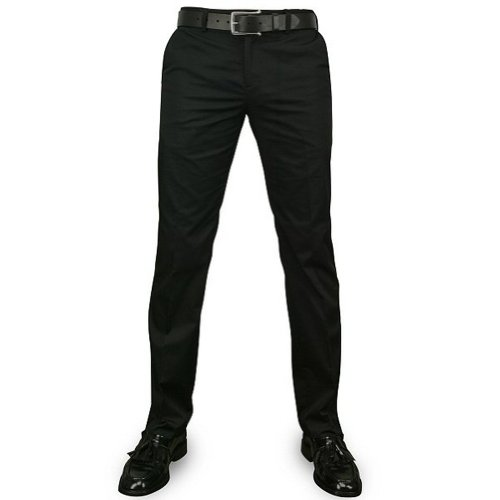 Mod Suit Trousers (New Merc London Black Sta-Press Mod Winston Trousers Size 34)
