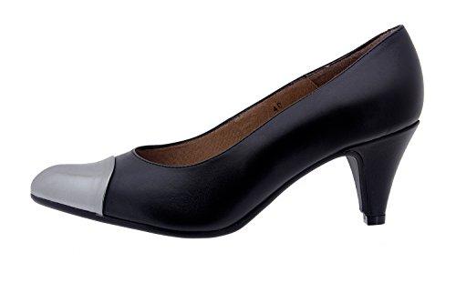 Piesanto Modelo 3238 - Zapatos de vestir confort de cuero para mujer Negro