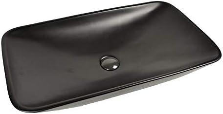 洗面ボール 現代の北欧上記カウンターマットブラックセラミック容器シンク浴室洗面 洗面器 (Color : Black, Size : 70x40x14cm)