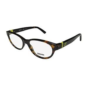 DKNY 4655 Womens/Ladies Cat Eye Full-rim Eyeglasses/Eyeglass Frame (51-16-140, Tortoise / Lime)
