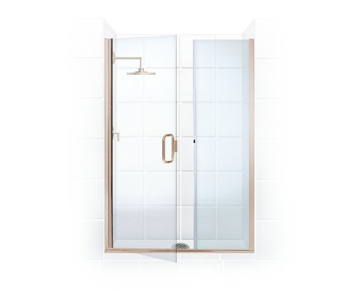 Illusion Series 44 in. to 45.25 in. x 66 in. Frameless Shower Door and Inline Panel with C-Pull Handle in Brushed Nickel and Clear Glass