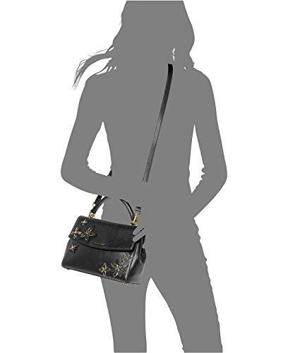 8f89295a3efa2d MICHAEL Michael Kors Ava Small Top Handle Satchel Black, Flowers: Handbags:  Amazon.com