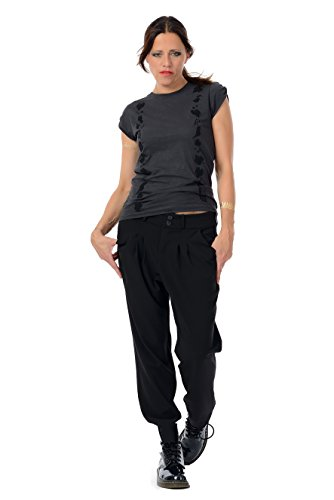 Femme Jasmin Noir Relaxed Pantalon 3elfen Pantalons U6Rqzz