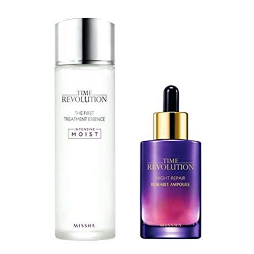 Night Essence - Missha Time Revolution the First Treatment Essence Intensive 150ml + Night Repair Serum 50ml
