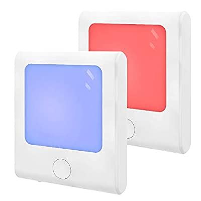 MAZ-TEK Plug-in Night Light with RGB Color Changing & Dimmable Warm White Light for Hallway, Kitchen, Stairway, Bedroom