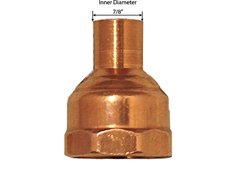 1' Npt Thread (Libra Supply 3/4'' x 1'' , 3/4 x 1 inch, 3/4 x 1-inch Wrought Copper Pressure Reducing Female Adapter C x FIP, (Click in for more size options)Copper Pressure Pipe Fitting Plumbing Supply)