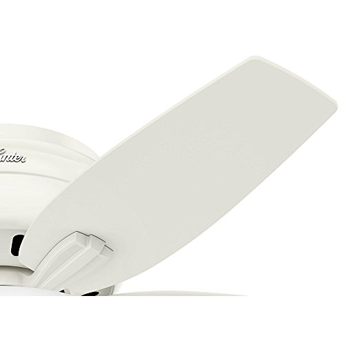 Hunter Fan Company 51080 Newsome Ceiling Fan with Light, 42''/Small, Fresh White by Hunter Fan Company (Image #5)