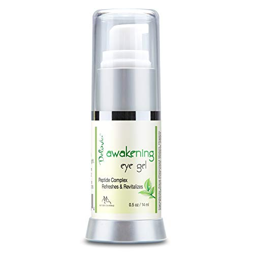 Daily Under Eye Gel - Reduces the Appearance of Puffiness, Wrinkles, Fine Lines, Bags, Dry, Crepe Skin - Organic Aloe, Vitamin E, Hyaluronic Acid - Firming Moisturizing. For Men & Women By Deluvia (Best Wrinkle Cream For 30 Year Olds)