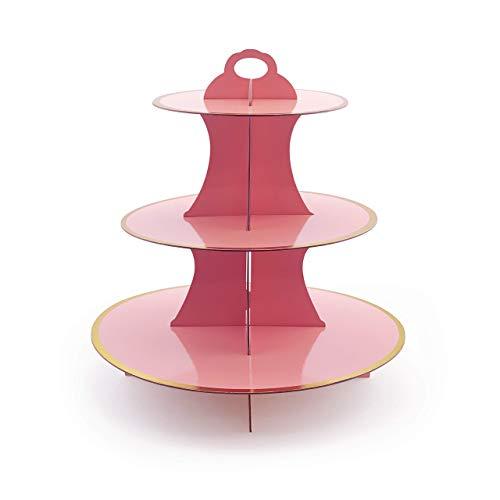 - Adorox 3-Tier Round Cardboard Cupcake Stand (12