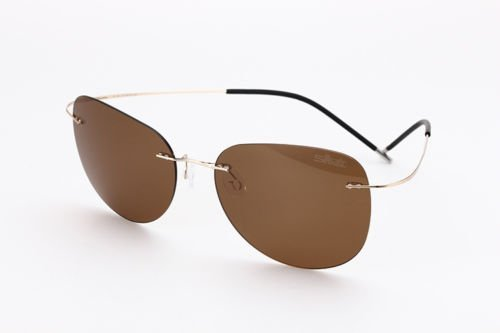 VIPASNAM-sunglasses Polarized men CRIUS brown lenses round metal frame less - Louis Sunglasses For Cheap Men Vuitton