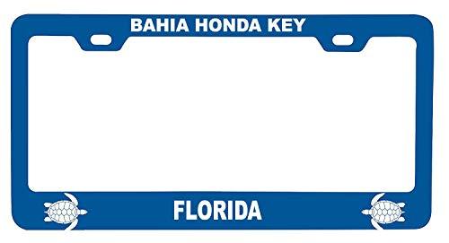 R and R Imports Bahia Honda Key Florida Turtle Design Souvenir Metal License Plate Frame