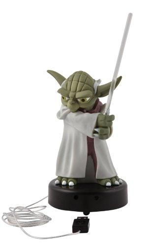 Joy Toy - Star Wars The Clone Wars Figure With Light & Sound Yoda 14cm