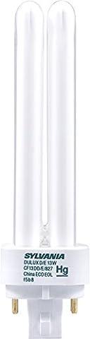 Sylvania 20682 Compact Fluorescent 4 Pin Double Tube 2700K, 13-watt (Sylvania 2700k Led)