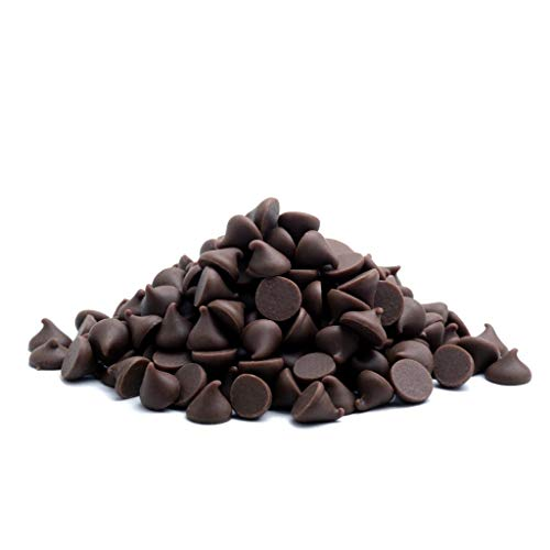 5 LB Barry Callebaut Semisweet Dark Chocolate Chips - Resealable Stand Up Pouch ()