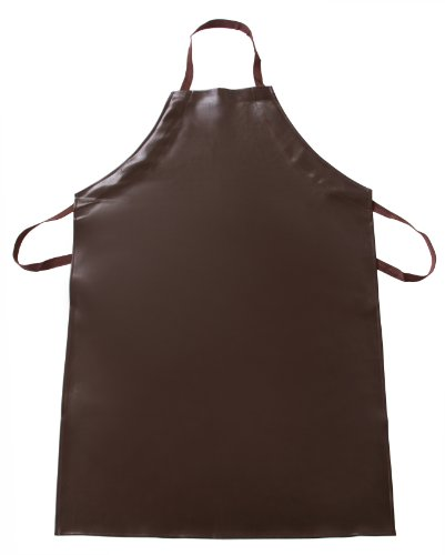 New Star Foodservice 32345 Vinyl Bib Apron with Leatherette Finish, Set of 2, Brown