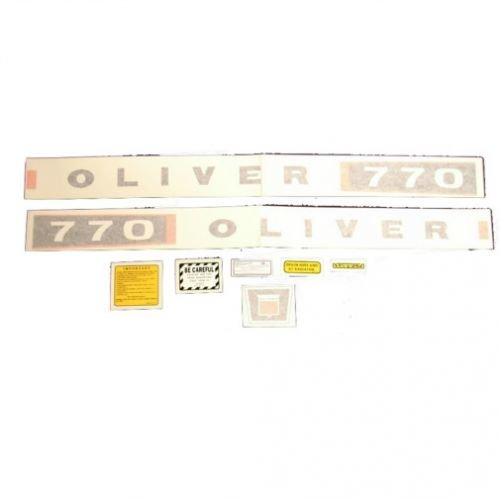 Tractor Decal Set 770 w/Aluminum Name Plate Vinyl Oliver 770 ()