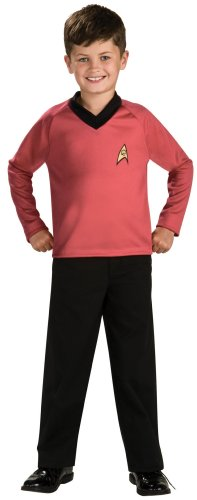 Star Trek Classic Red Costumes (Star Trek Classic Red Child Costume Size 8-10 Medium by Rubie's)