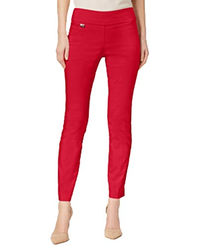 Alfani Womens Petites Knit Skinny Casual Pants Red 4P from Alfani