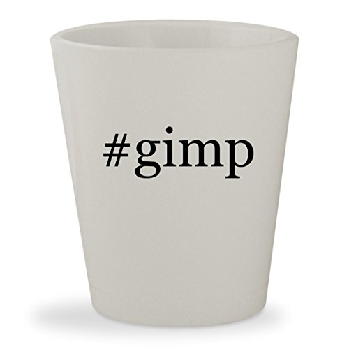 #gimp - White Hashtag Ceramic 1.5oz Shot Glass
