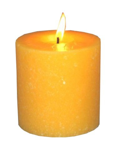 Root Candles Scented Timberline Pillar Candle, 3 x 3-Inches, Tangerine Lemongrass