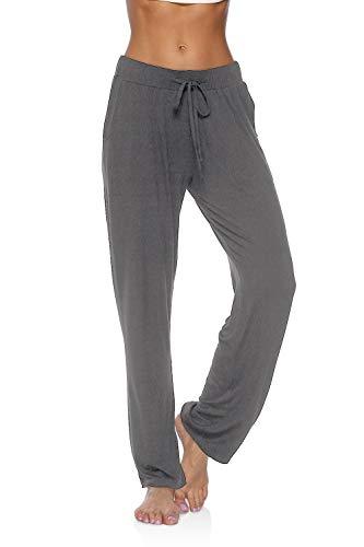 DIBAOLONG Womens Yoga Pants Wide Leg Comfy Drawstring Loose Straight Lounge Running Workout Legging Dark Gray XL