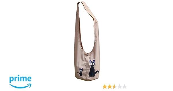 Amazon.com  Kiki s Delivery Service Hip  Shoulder  Sling Bag Kiki with Jiji  Black Cat and His Son Cream Ecru  Shoes 14fc09a641805