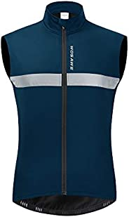 WOSAWE Men's Thermal Cycling Vest Reflective Warm Sheeveless Jacket Running Gilet for Autumn Wi