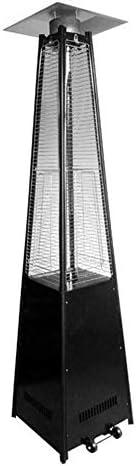 ホイール付きガスガラスヒーター商業用ガスストーブステンレスピラミッドフレームヒーターピラミッドパティオヒーター