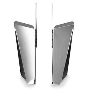 National Cycle N76607 Switchblade Chrome Lower Deflectors for Honda - Deflector Cycle Switchblade National