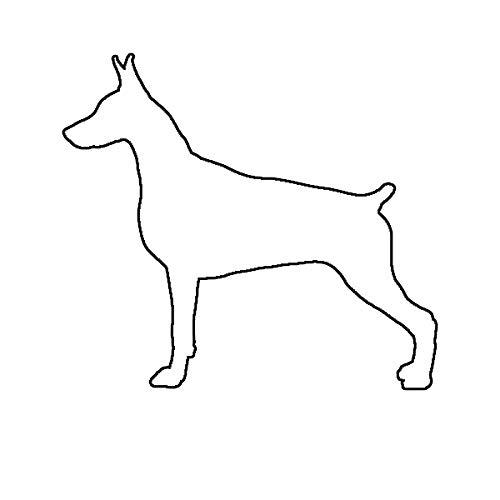 Morgan Graphics Doberman Pinscher Sticker Die Cut Decal Dog Canine pet Vinyl Decal Sticker Car Waterproof Car Decal Bumper Sticker 5