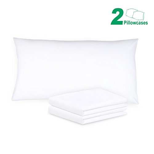 Purchase Sunnest King Size Pillow Cases Set of 2 (20 x 40, White) - 100% Brushed Microfiber, Ultra...