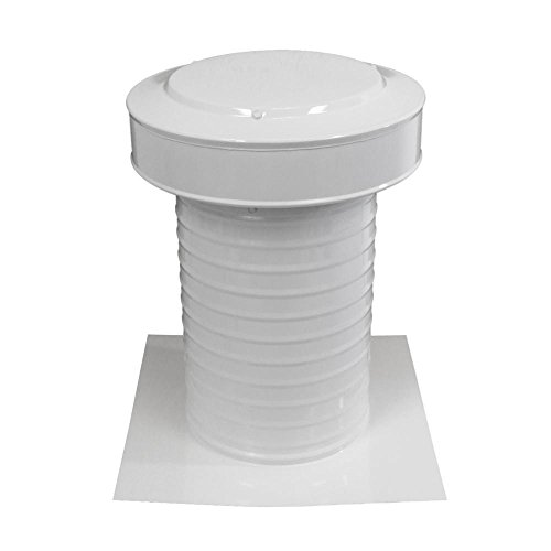 (Active Ventilation 8 inch diameter Keepa Vent an Aluminum Roof Vent for Flat Roofs In White)