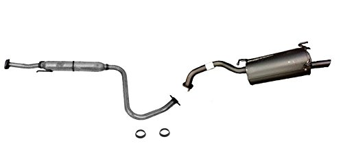 Nissan Sentra Exhaust System (Mac Auto Parts 132740 Front & Rear Muffler Pipe and Gasket Exhaust System For 2007-2012 Nissan Sentra 2.0L)