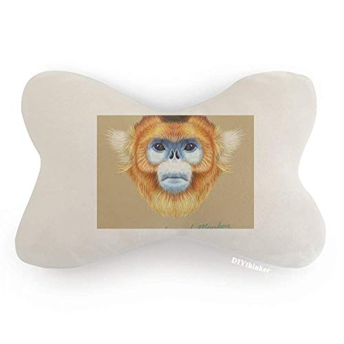 ub-Nosed Monkey Animal Car Neck Pillow Headrest Support Cushion Pad ()