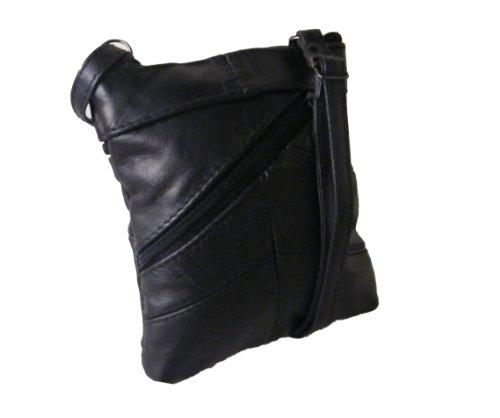 Body Cross Black Leather Lorenz Cross Handbag Lorenz Leather Black Body 3810 AwTCvaYq