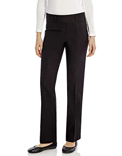 Leveret Womens Pants Stretchable Boot Cut Comfort Office Pants Pull On (14, Black) ()
