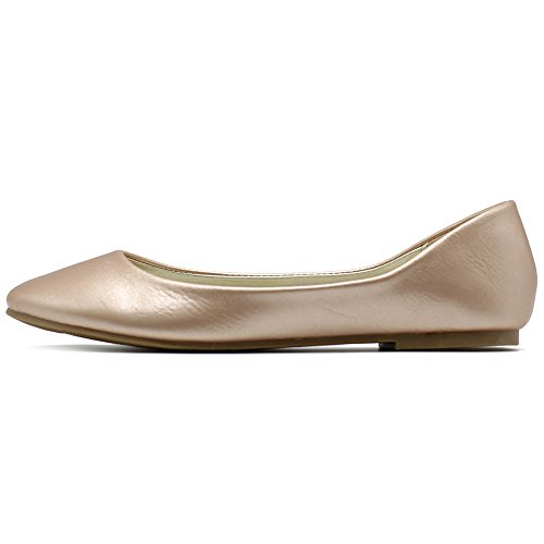 Royal Women's Flat Heel Low Ballet Ollio Basic Gold Light Shoe Comfort FRqzpw7
