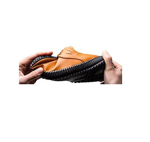 Sport Sandales zmlsc Cuir Souple en Ronde Ruban Point Point Casual Toile Bottes Hommes Saison D'affaires Black Couleur Chaussures xggS6wZq