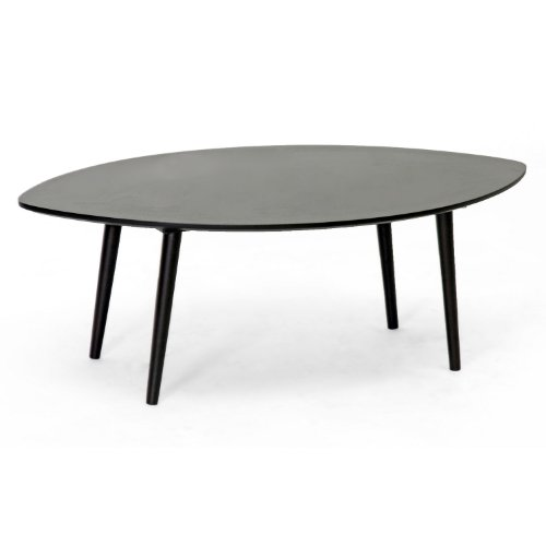 Baxton Studio Griffith Mid-Century Modern Coffee Table, Dark (Wholesale Interiors Glass Coffee Table)